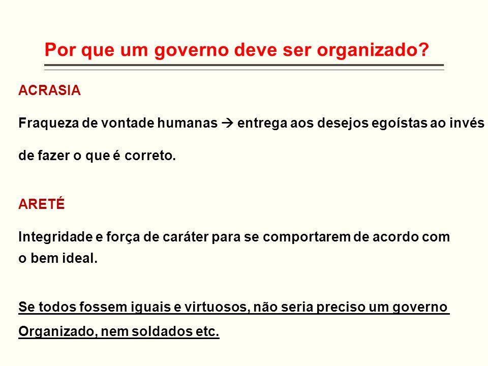 Por que um governo deve ser organizado