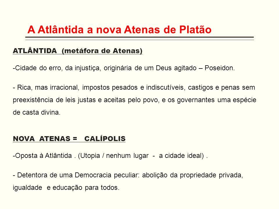 A Atlântida a nova Atenas de Platão