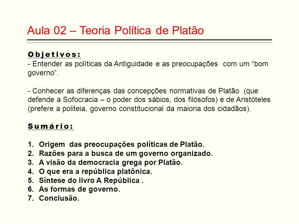 Aula 02 – Teoria Política de Platão