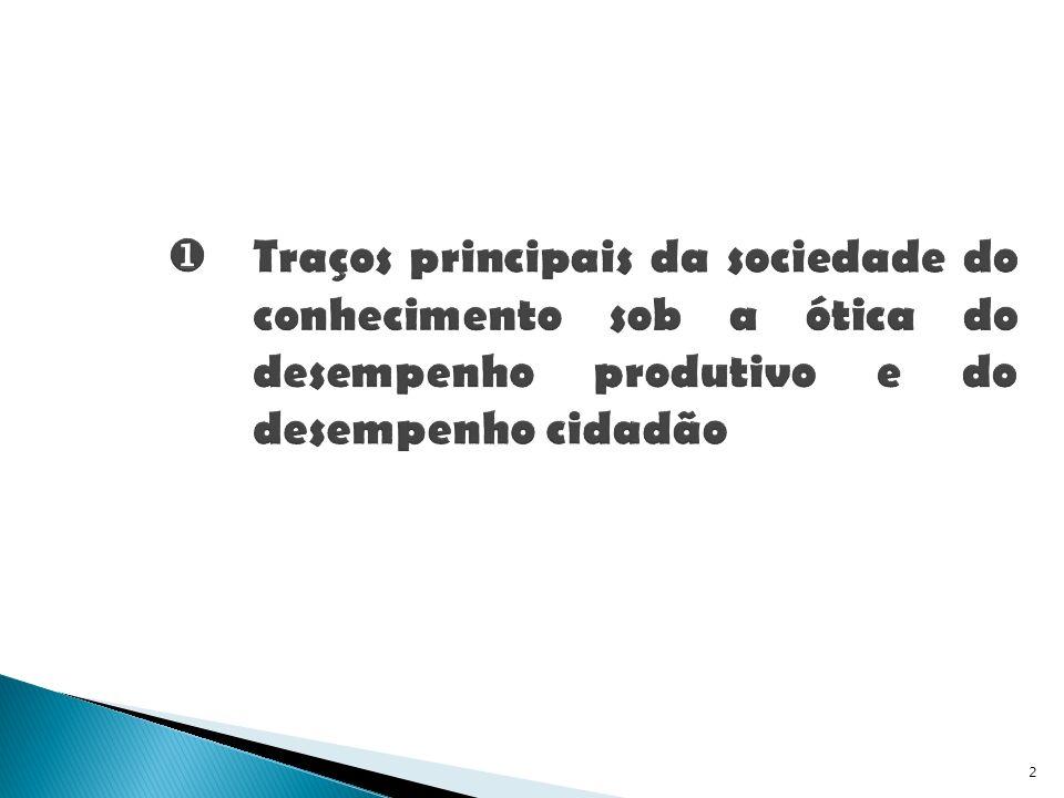 Traços principais da sociedade do conhecimento sob a ótica do desempenho produtivo e do desempenho cidadão