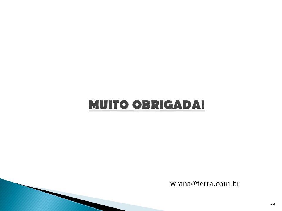 MUITO OBRIGADA! wrana@terra.com.br