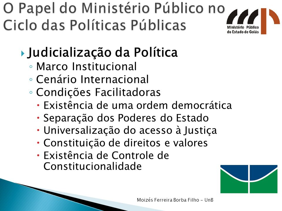 O Papel do Ministério Público no Ciclo das Políticas Públicas