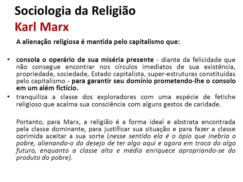 Sociologia da Religião Karl Marx