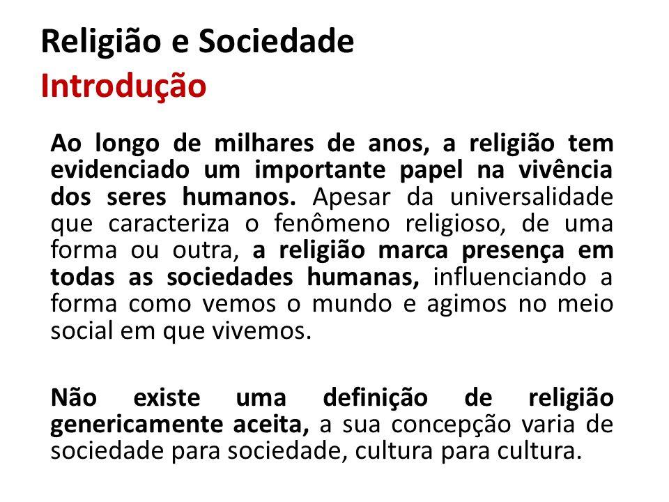 Religião e Sociedade Introdução