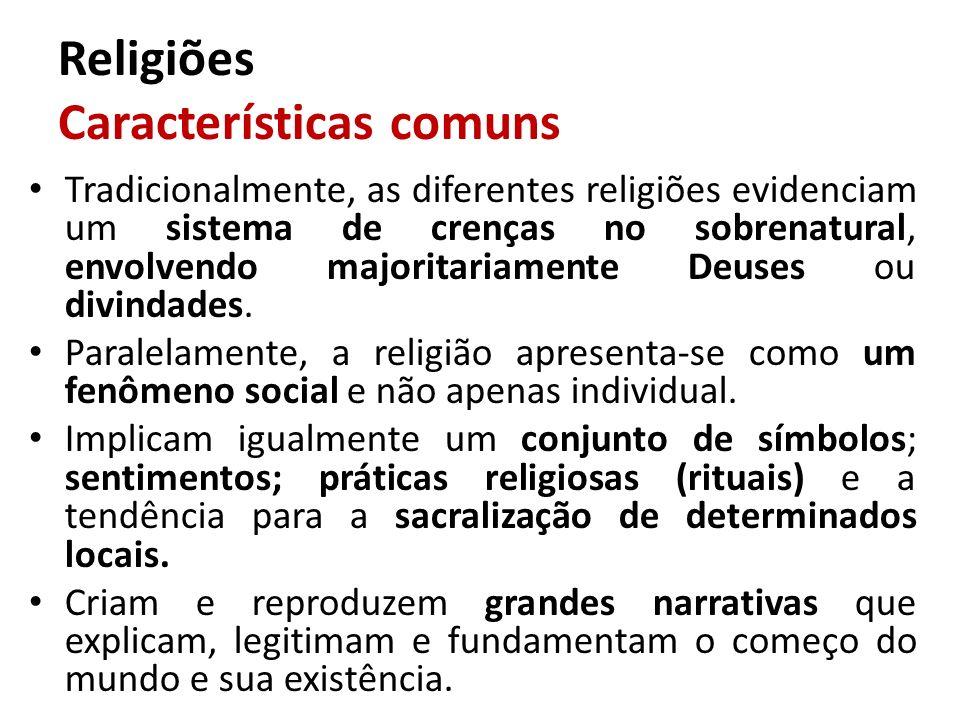Religiões Características comuns