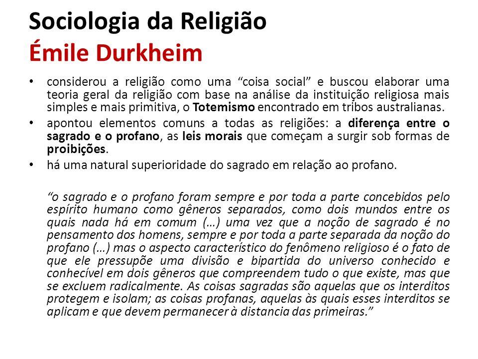 Sociologia da Religião Émile Durkheim