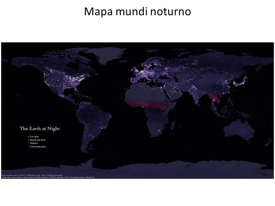Mapa mundi noturno