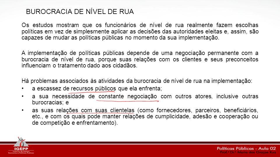 BUROCRACIA DE NÍVEL DE RUA