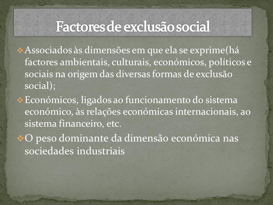 Factores de exclusão social