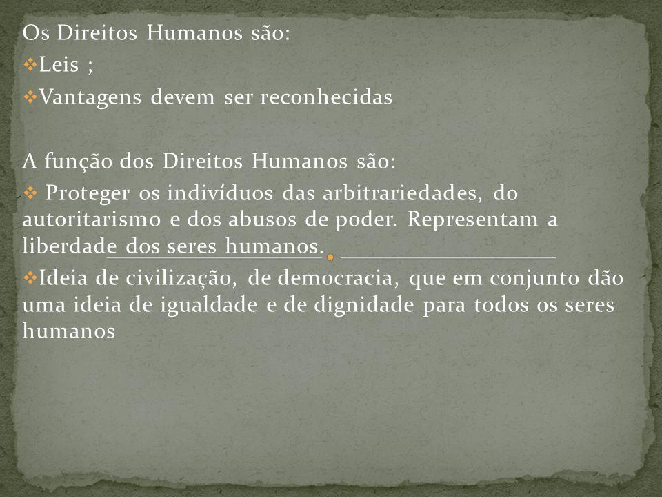 Os Direitos Humanos são: