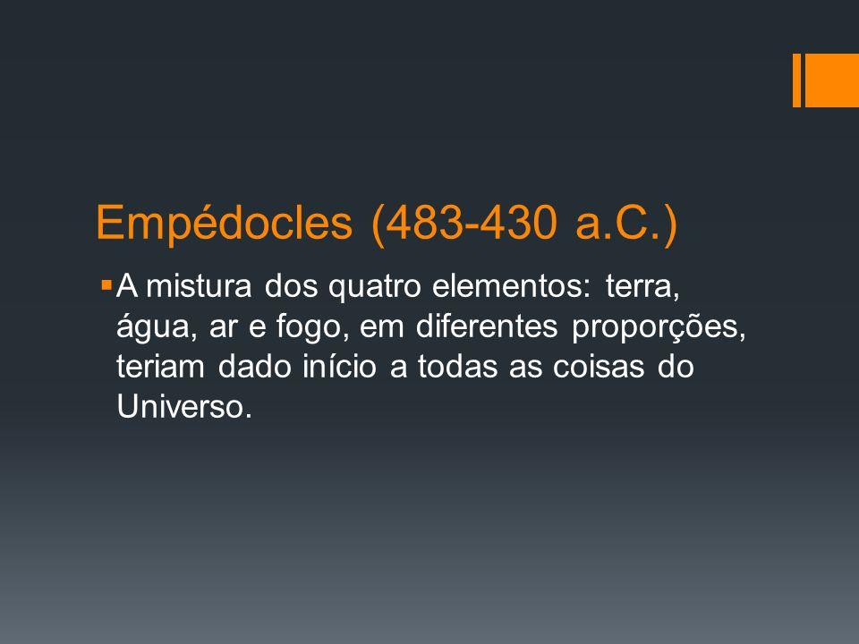Empédocles (483-430 a.C.)