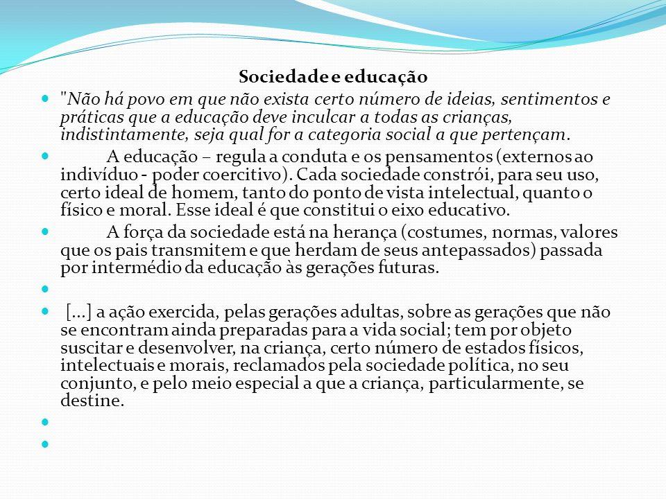 Sociedade e educação