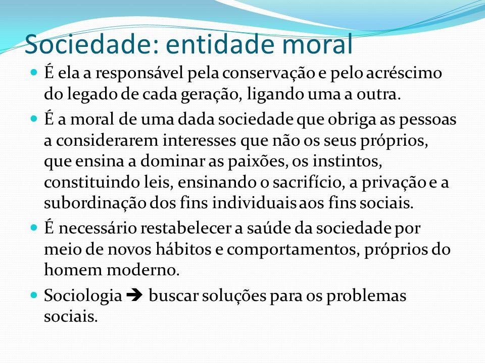 Sociedade: entidade moral