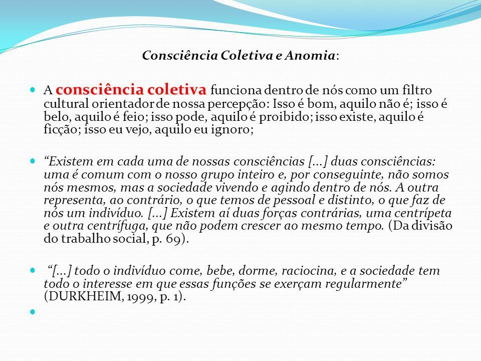 Consciência Coletiva e Anomia: