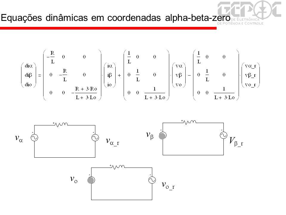 Equações dinâmicas em coordenadas alpha-beta-zero