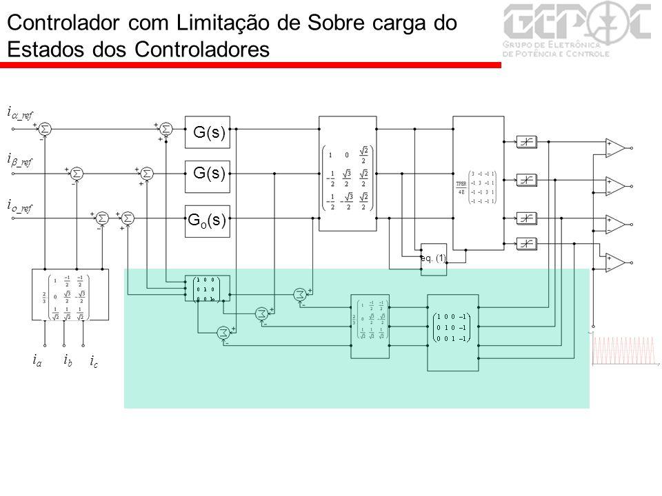 Controlador com Limitação de Sobre carga do Estados dos Controladores