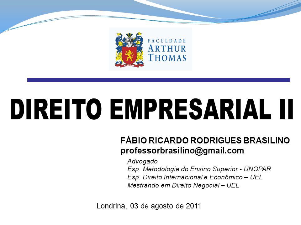 DIREITO EMPRESARIAL II