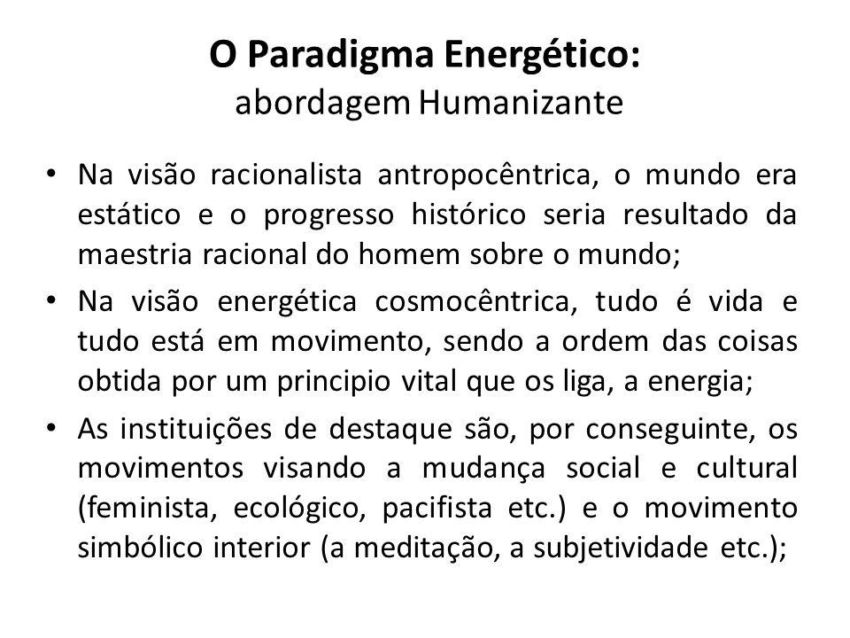 O Paradigma Energético: abordagem Humanizante