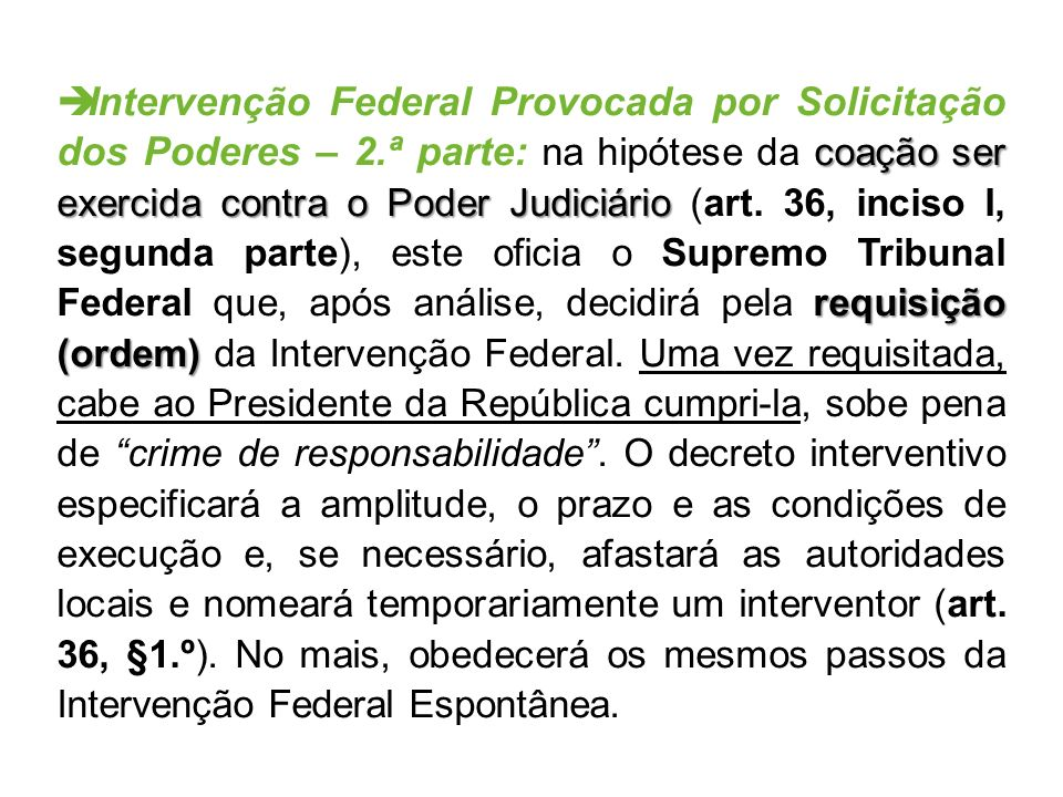 Intervenção Federal Provocada por Solicitação dos Poderes – 2