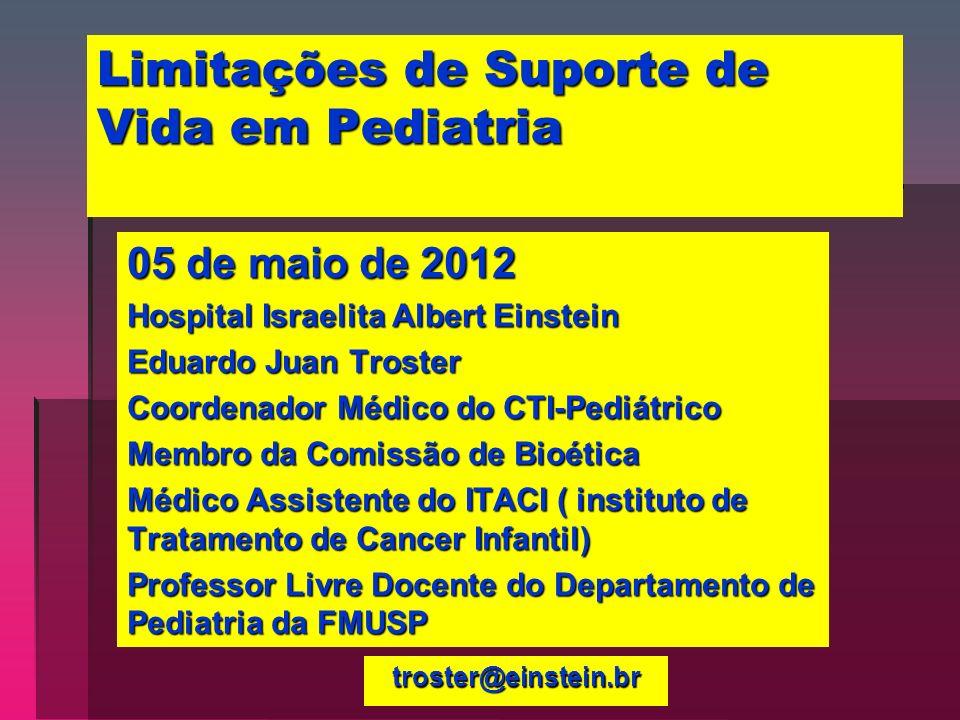 Limitações de Suporte de Vida em Pediatria
