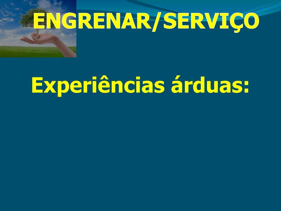 ENGRENAR/SERVIÇO Experiências árduas:
