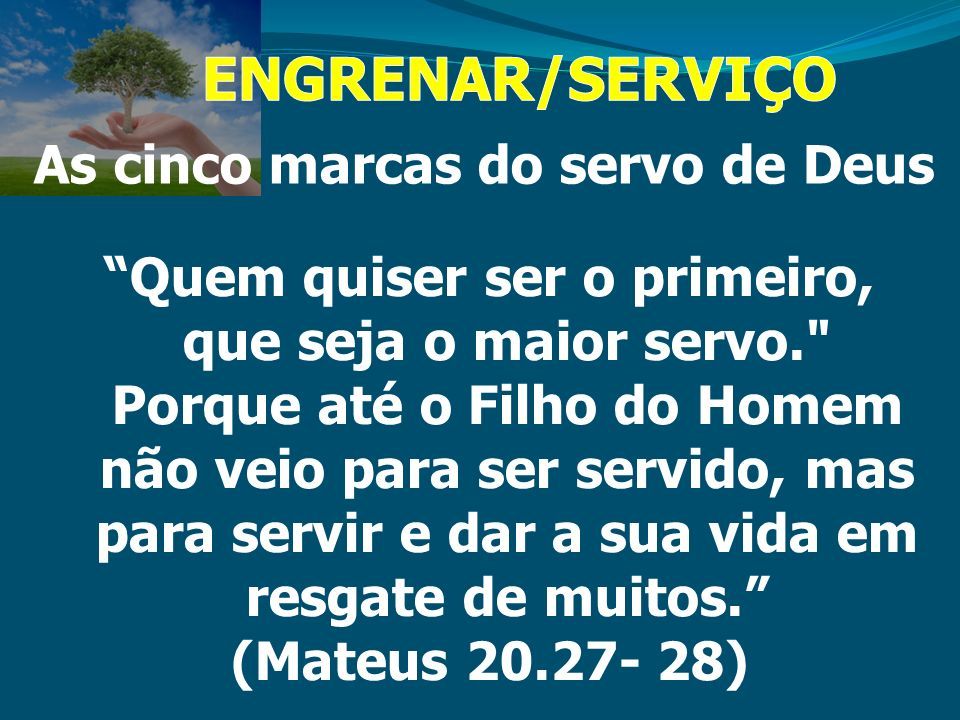 As cinco marcas do servo de Deus