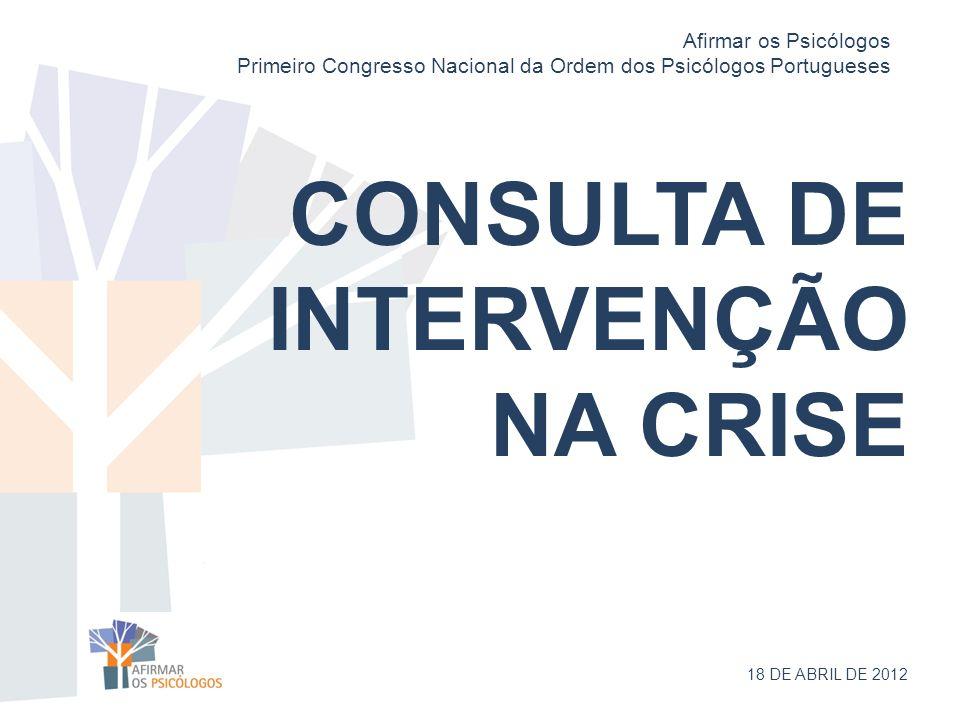 CONSULTA DE INTERVENÇÃO NA CRISE