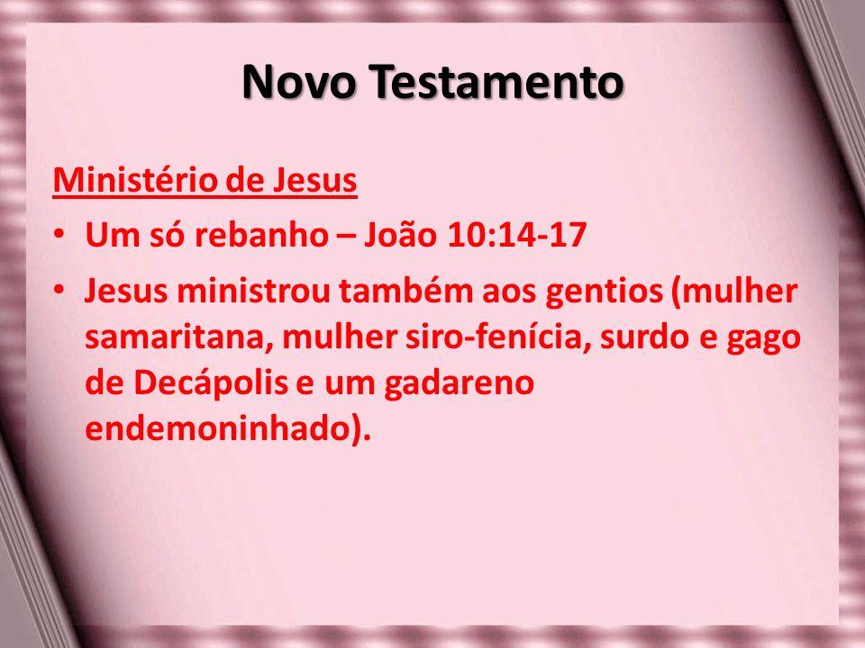 Novo Testamento Ministério de Jesus Um só rebanho – João 10:14-17
