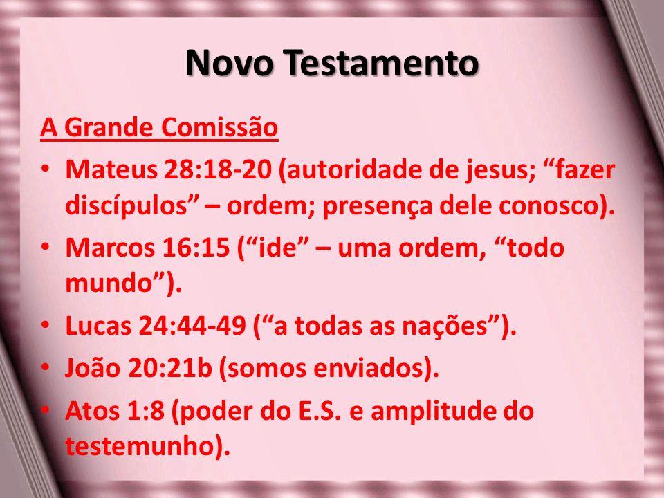 Novo Testamento A Grande Comissão