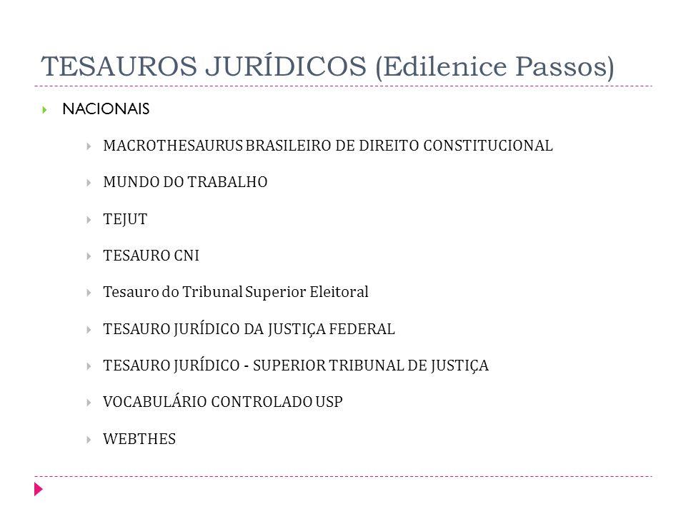 TESAUROS JURÍDICOS (Edilenice Passos)