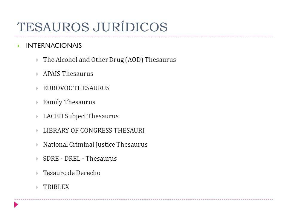 TESAUROS JURÍDICOS INTERNACIONAIS