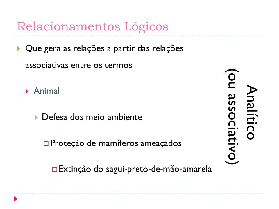 Relacionamentos Lógicos