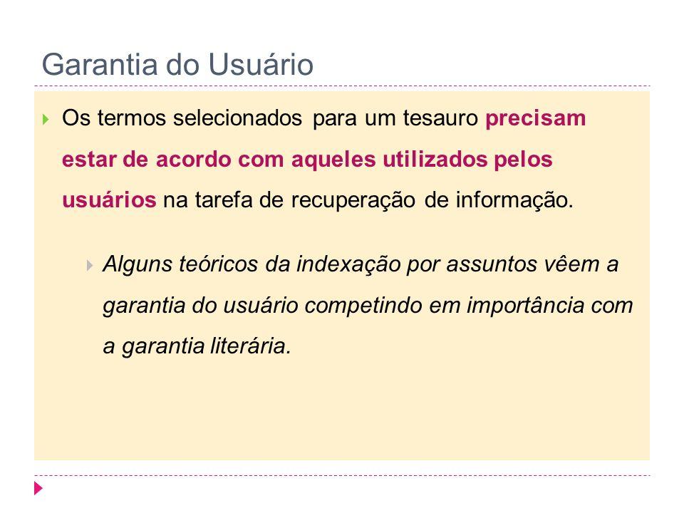 Garantia do Usuário