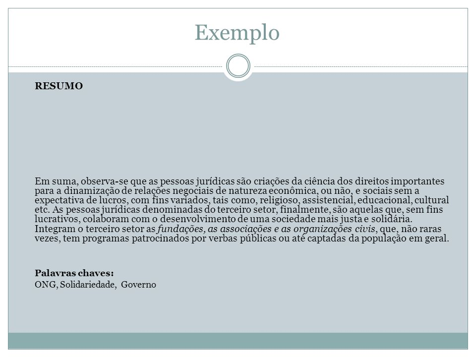 Exemplo RESUMO.