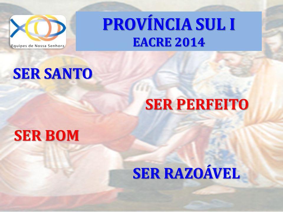 PROVÍNCIA SUL I EACRE 2014 SER SANTO SER PERFEITO SER BOM SER RAZOÁVEL