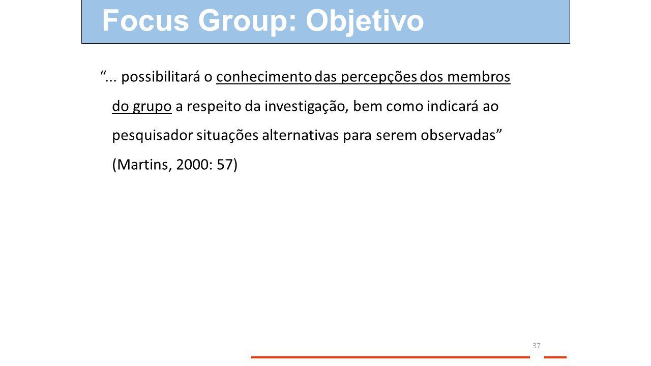 Focus Group: Objetivo