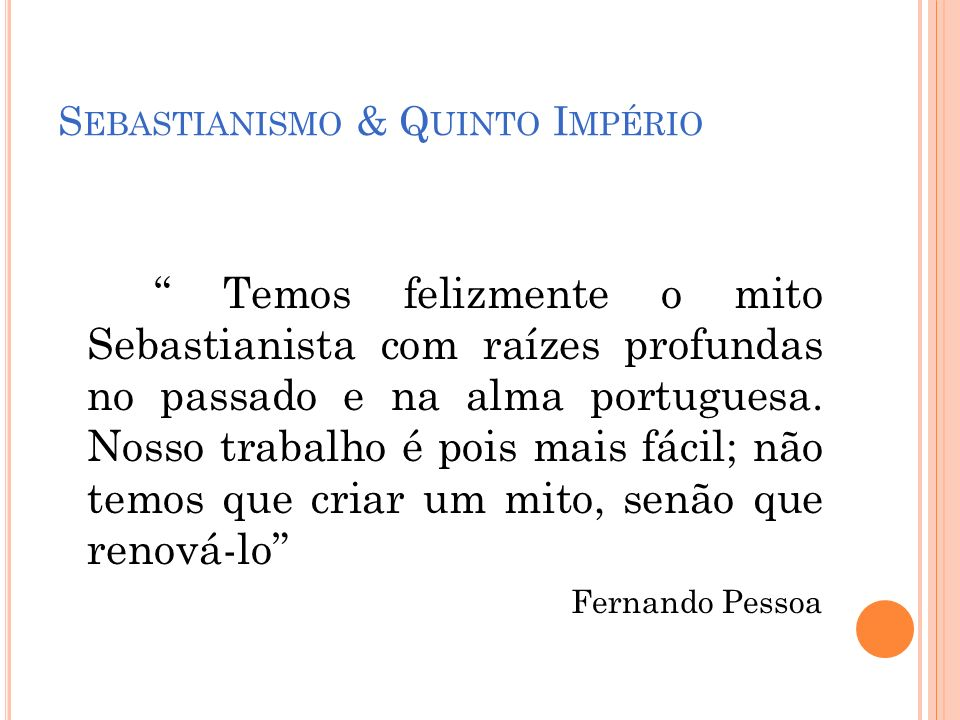 Sebastianismo & Quinto Império