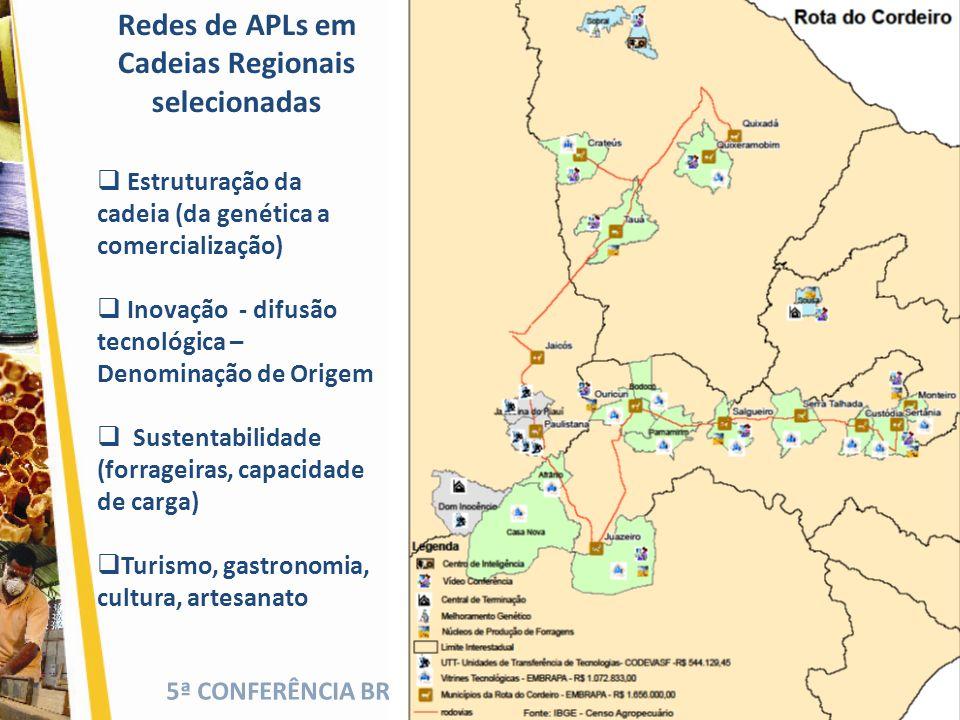 Redes de APLs em Cadeias Regionais selecionadas