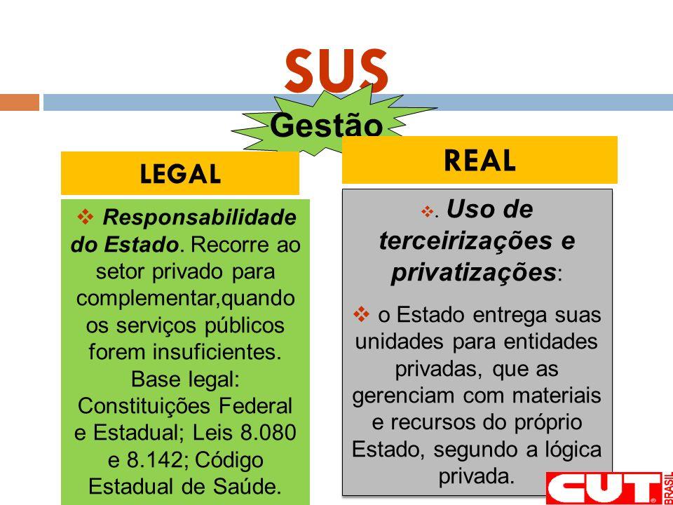 . Uso de terceirizações e privatizações:
