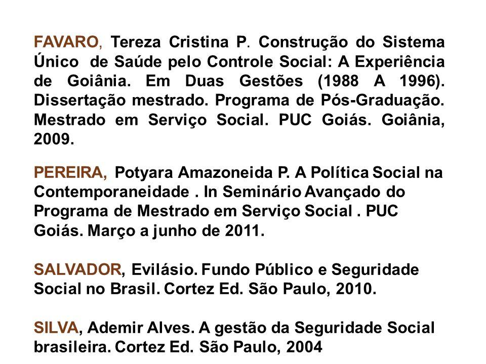 FAVARO, Tereza Cristina P