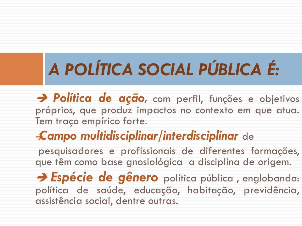 A POLÍTICA SOCIAL PÚBLICA É: