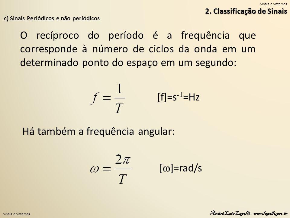 Há também a frequência angular: