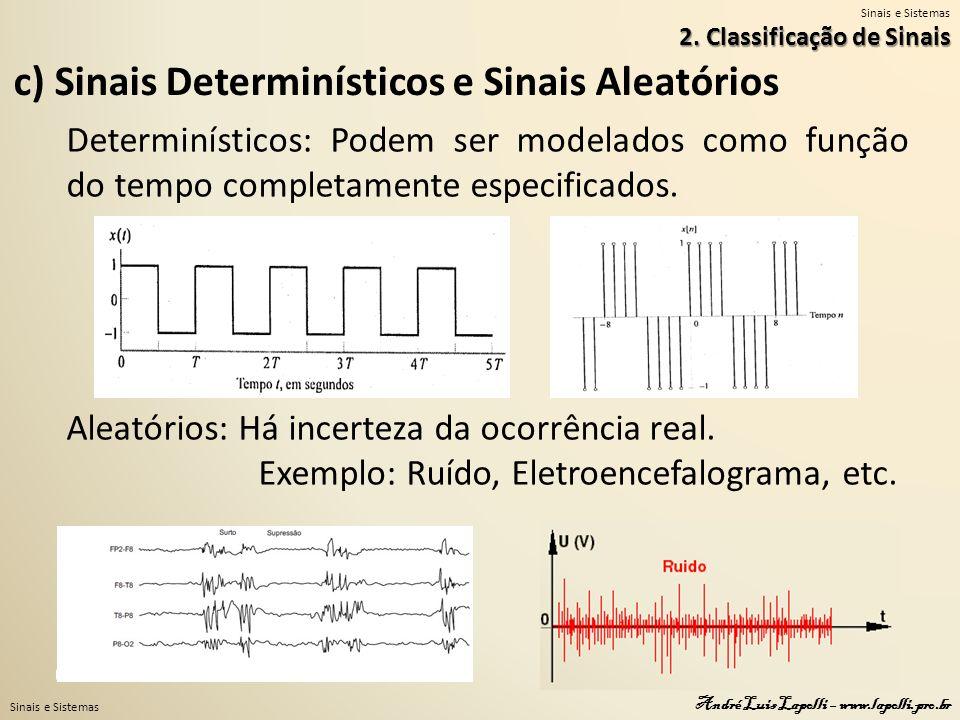 c) Sinais Determinísticos e Sinais Aleatórios