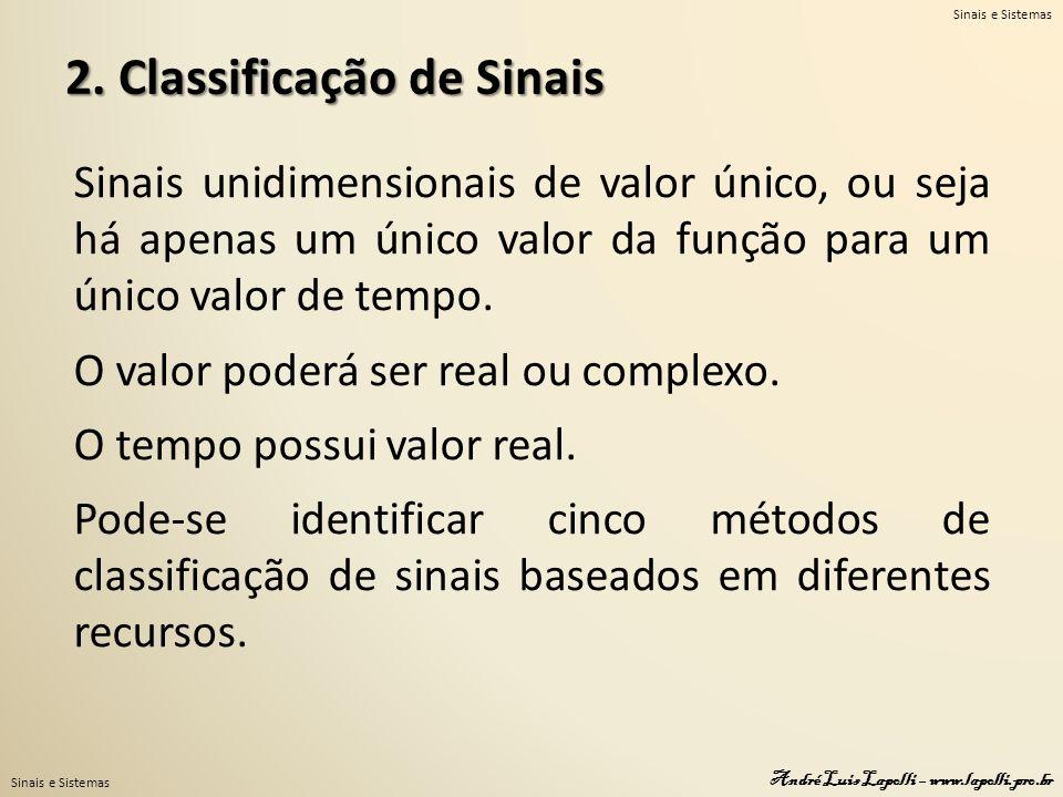 2. Classificação de Sinais