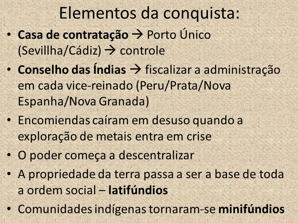 Elementos da conquista:
