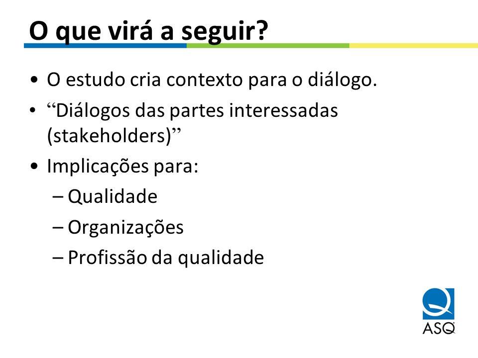 O que virá a seguir O estudo cria contexto para o diálogo.
