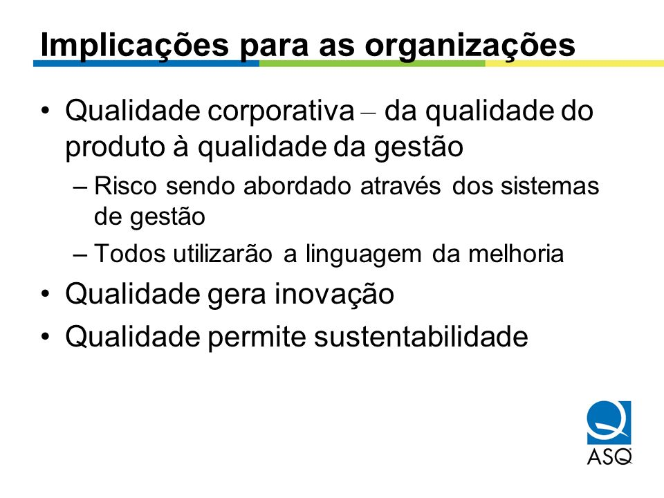 Implicações para as organizações
