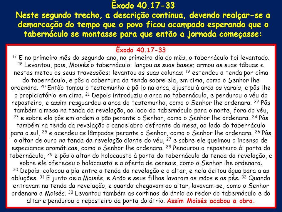 Êxodo 40.17-33