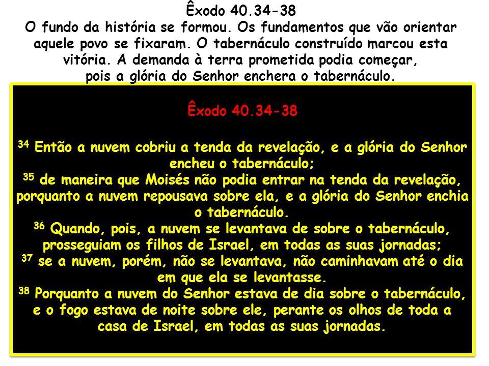 pois a glória do Senhor enchera o tabernáculo.
