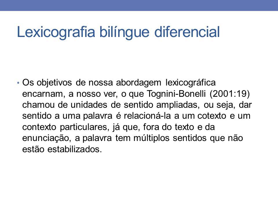 Lexicografia bilíngue diferencial